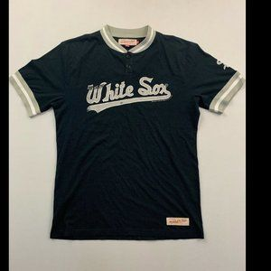 Mitchell & Ness Black Short Sleeve White Sox Tee